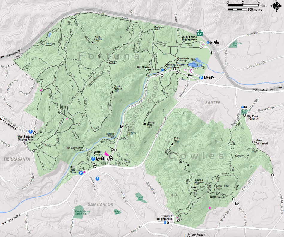 Mission Trails Trail Map