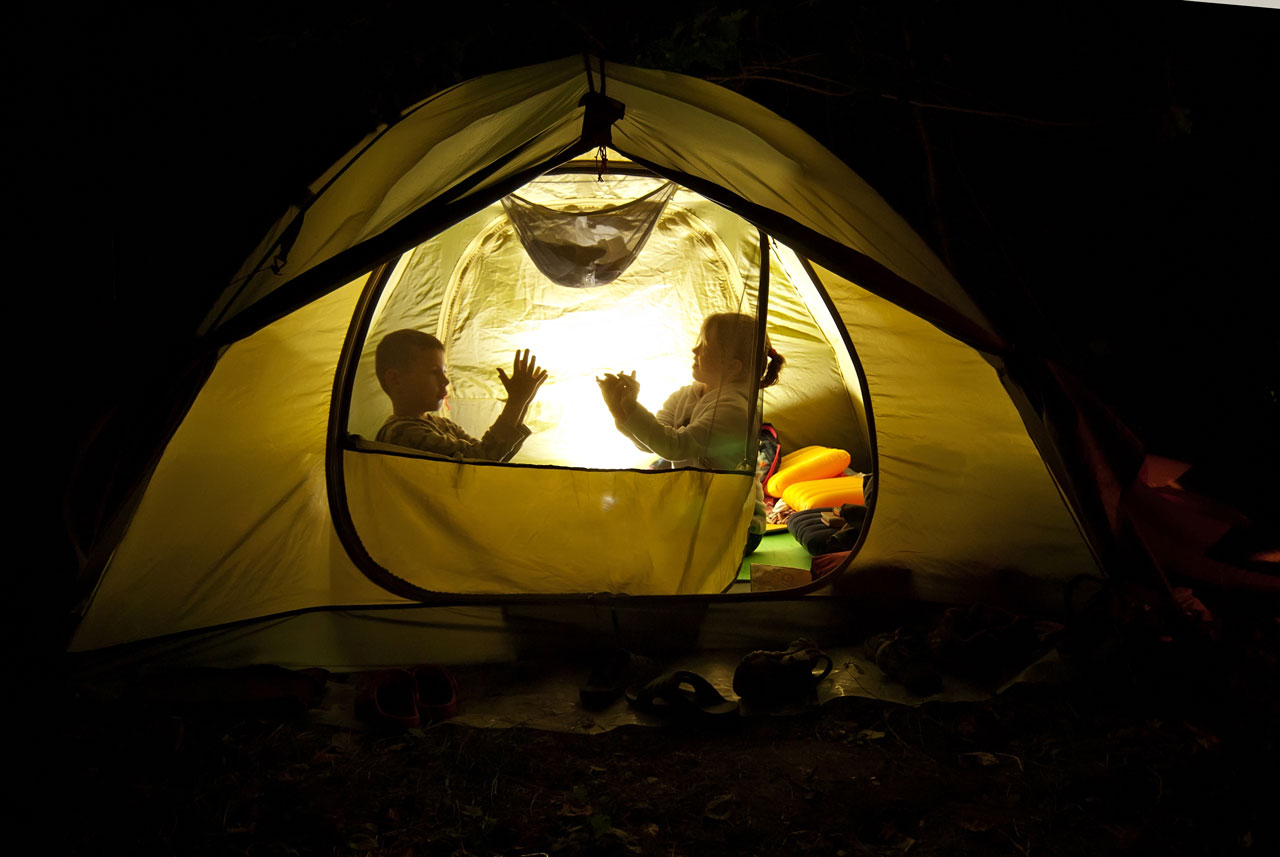Kids in a 6 person tent