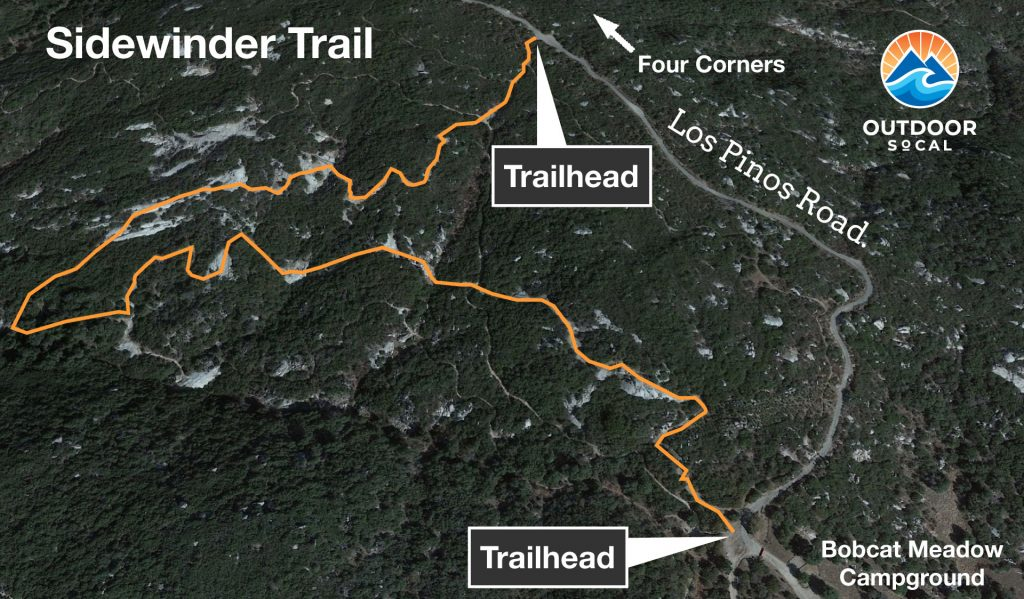 Sidewinder Trail Map Corral Canyon