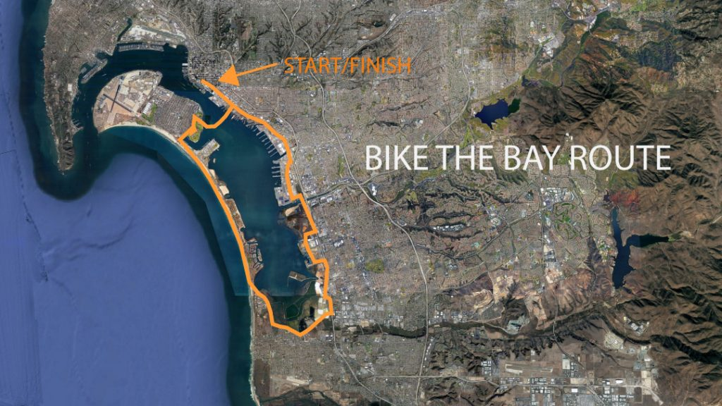 Bike the Bay Route Map