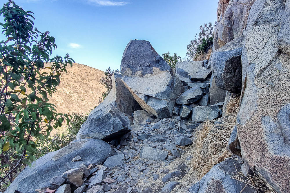 Rocky portion of Climbers Loop Trail
